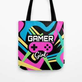 Gamer Girl Neon Tote Bag