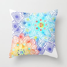 Floral Lace Throw Pillow