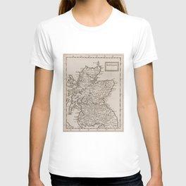 Vintage Map of Scotland (1681) T-shirt