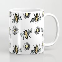 bees Mugs featuring Bees by rapunzette