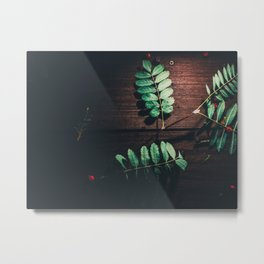 Leaves Leave Metal Print