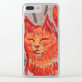Tangerine Bowie Clear iPhone Case