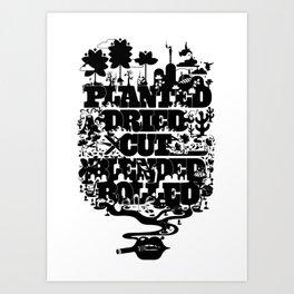 CIGARETTES Art Print