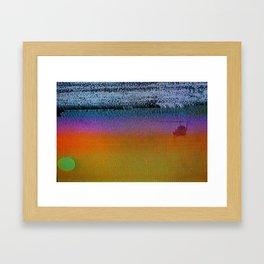 Vice Sunset Framed Art Print
