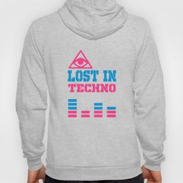 Lost in techno music design Hoody