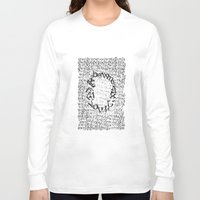 letters Long Sleeve T-shirts featuring Letters  by Enver Yigit