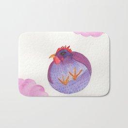Chicken In The Sky Bath Mat