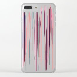 Stripped Colors Clear iPhone Case