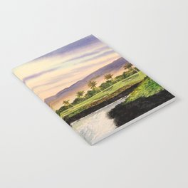 Mauna Kea Golf Course Hawaii Hole 3 Notebook