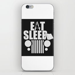 eat sleep jeep iPhone Skin