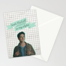 Scott McCall is my alpha Stationery Cards