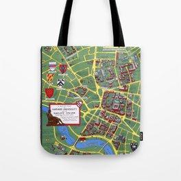 HARVARD University map CAMBRIDGE Tote Bag