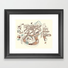 Secret Lives of Luggage Framed Art Print