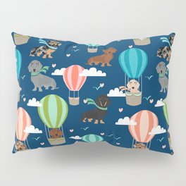 Dachshund hot air balloon dog cute design fabric doxie pillow decor phone case Pillow Sham