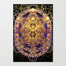 Geometry Peace Reflections Canvas Print