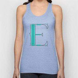 Drop Cap E - decorative letter - typography - monogram - capital Unisex Tank Top