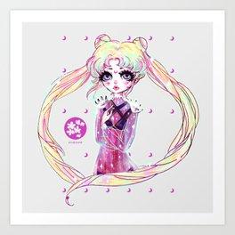 moon power ❤ usagi Art Print