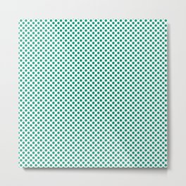 Emerald Polka Dots Metal Print