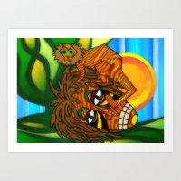 jojo Art Prints featuring Congo JoJo by BohemianBound