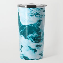 Deep Turquoise Sea - Nature Photography Travel Mug