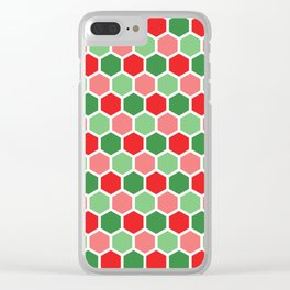 Holiday Hexies Clear iPhone Case