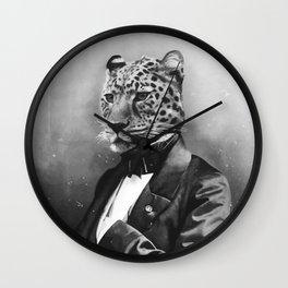 Sir Leopard Wall Clock