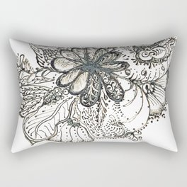 20. Flower WORLD with Henna  Rectangular Pillow