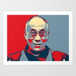 dalai lama hope poster Art Print