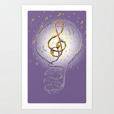 Music, what a great idea! Art Print