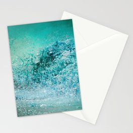 Turquoise Wave - Blue Water Scene Stationery Cards