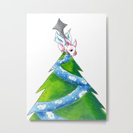 Undercover Tree Topper Metal Print