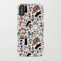 miyazaki iPhone & iPod Cases featuring Kawaii Ghibli Doodle by KiraKiraDoodles