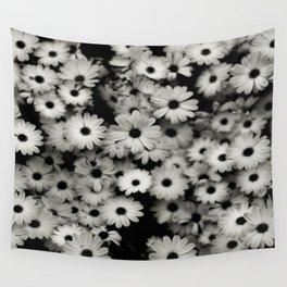 daisy, black & white Wall Tapestry