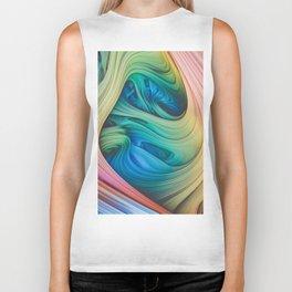 Taffy Tie Dye. 3d Abstract Art Biker Tank