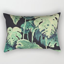 tropical in the dark Rectangular Pillow
