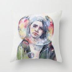 goodmorning world Throw Pillow