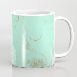 Elegant gold and mint marble image Coffee Mug