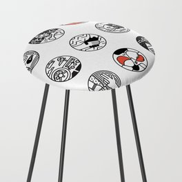 blurry icons Counter Stool