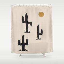 saguaro silent disco Shower Curtain