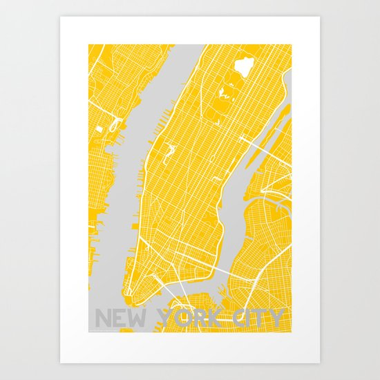 Summer in the City. Art Print