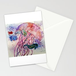 Jellyfish and Friends Stationery Cards