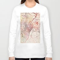 louis Long Sleeve T-shirts featuring Saint Louis by MapMapMaps.Watercolors