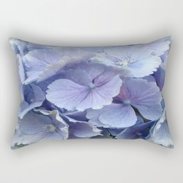 Blue Hydrangea Rectangular Pillow