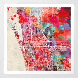 Bonita Springs map Florida FL Art Print