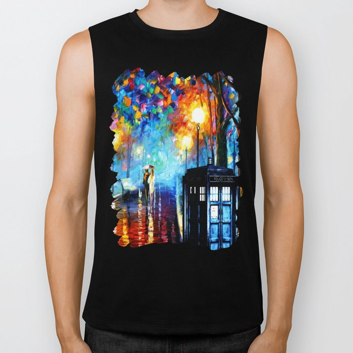 STARRY NIGHT TARDIS Biker Tank