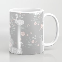 Swans painting cute girly trend cell phone case with swans pattern florals hand painted Coffee Mug