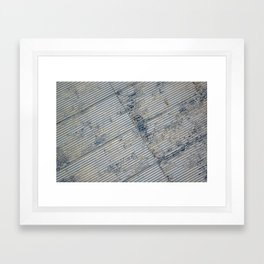 Warehouse District -- Rustic Farm Chic Abstract Framed Art Print