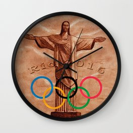 Christ The Redeemer Statue Rio 2016 Wall Clock