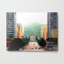 A society with a single book. Metal Print