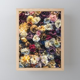 Flower Wall // Full Color Floral Accent Background Jaw Dropping Decoration Framed Mini Art Print